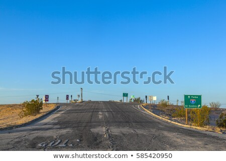Stock photo: crossing at interstate 8 with damaged street