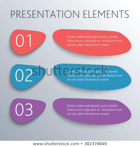 Drie stappen optie sjabloon business Stockfoto © SArts