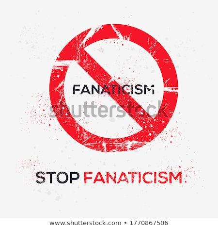 stop fascism message stock photo © stevanovicigor