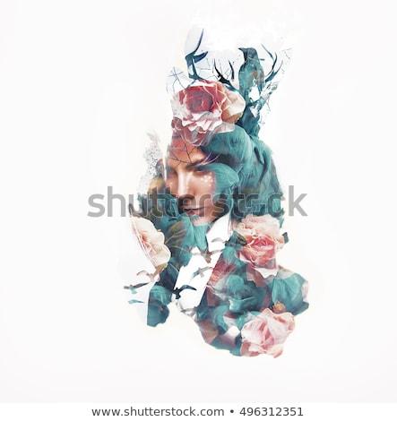 gyönyörű · nő · digitális · művészet · fotó · nő · lány - stock fotó © amok
