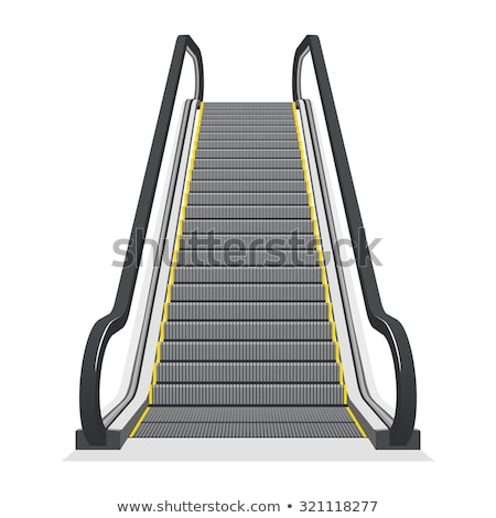 Moving staircase escalator as modern background Stock photo © stevanovicigor