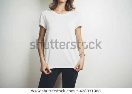 Görüntü gömlek poz duvar adam Stok fotoğraf © deandrobot