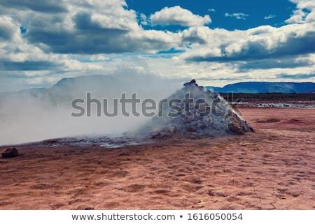 landschap · IJsland · Rood · vuil · stoom · heet · water - stockfoto © vichie81