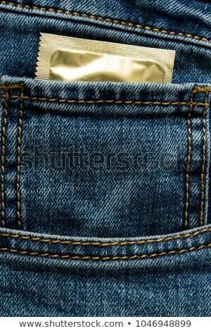 Condoom zak geneeskunde Maakt een reservekopie veiligheid Stockfoto © kayros