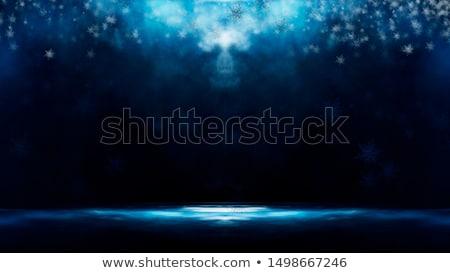 Blue snowflakes blizzard in the darkness Stock photo © SwillSkill