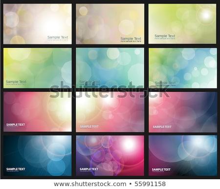Abstract bokeh achtergronden ingesteld groene voorjaar Stockfoto © pakete