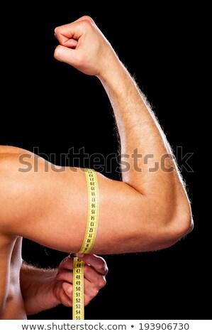Masculino mãos fita esportes Foto stock © dolgachov