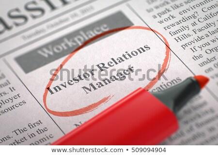 We are Hiring Public Relations Manager. 3D Illustration. Stock photo © tashatuvango