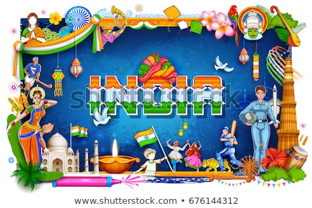 Hindistan · inanılmaz · kültür · çeşitlilik · festival - stok fotoğraf © vectomart