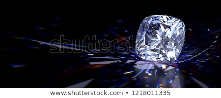 Diamant juweel donkere 3D abstract Stockfoto © user_11870380