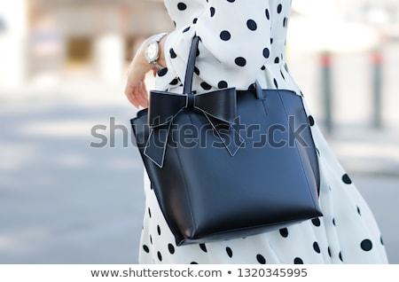 Pontozott ruha kreatív fotó divat pinup Stock fotó © Fisher