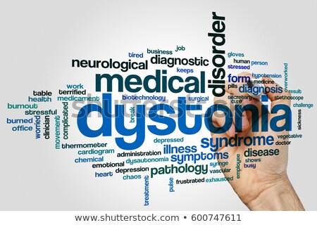 Diagnóstico vascular médico azul pílulas seringa Foto stock © tashatuvango