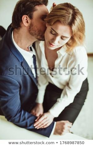 csók · nyak · emberi · pár · készít · szeretet - stock fotó © lightfieldstudios