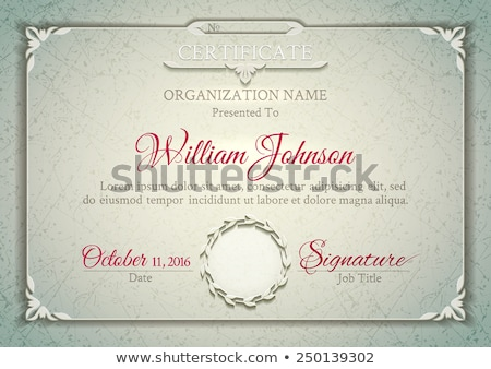 premium luxury certificate of achievement vector design Stock photo © SArts