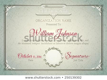 Stock fotó: Premium Luxury Certificate Of Achievement Vector Design