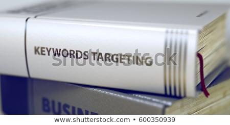 Blogging książki tytuł kręgosłup 3D Zdjęcia stock © tashatuvango