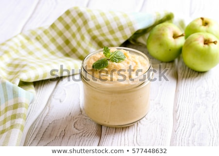 apple pure with cinnamon stock photo © Lana_M