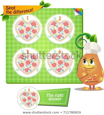 Spot scarto cantare pizza gioco bambini Foto d'archivio © Olena