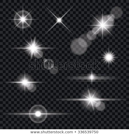 Valósághű vektor becsillanás fény hatás átlátszó Stock fotó © articular