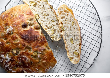 Sliced Artisan Focaccia Bread stock photo © klsbear