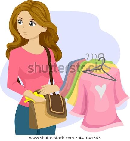 Tienermeisje illustratie tienermeisje kleding jeugd Stockfoto © lenm