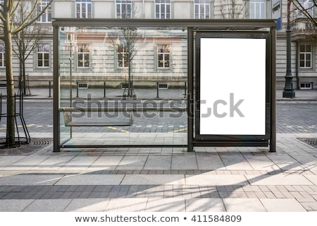 Outdoor advertising blank vertical signboard for poster mock up Stock photo © stevanovicigor