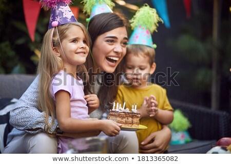moeders · zorg · pasgeboren · baby · hand · houden - stockfoto © is2