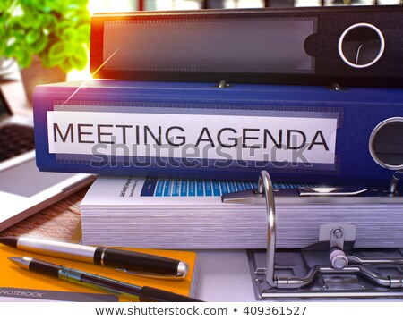 Agenda ufficio cartella immagine business illustrazione Foto d'archivio © tashatuvango