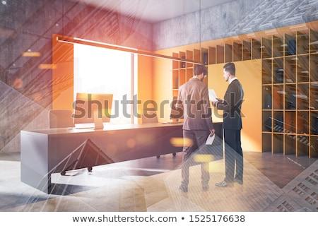 marketing on yellow office folder toned image stock photo © tashatuvango