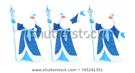 Blu russo nonno gelo babbo natale santo Foto d'archivio © orensila