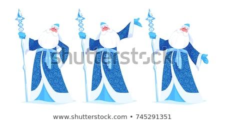 Blue Russian grandfather frost. Russian Santa Claus Saint Nicholas Stock photo © orensila
