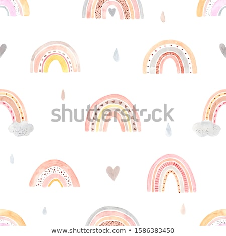 doodle watercolor hand drawn unicorn isolated on white backgrou stock photo © balasoiu