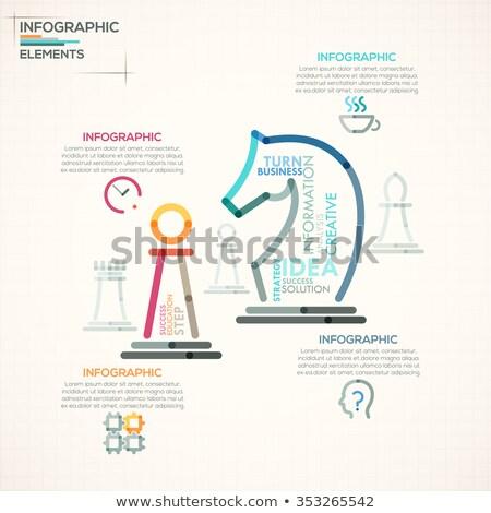 Vector estrategia de negocios infografía plantilla delgado línea Foto stock © orson