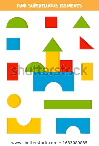 Figura triángulo educativo juego ninos adultos Foto stock © Olena