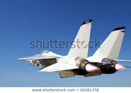 два быстро истребитель битва подобно полет Сток-фото © vilevi