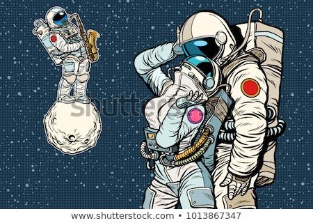 ifade · öpücük · sevmek · yüz · kadın · astronot - stok fotoğraf © studiostoks