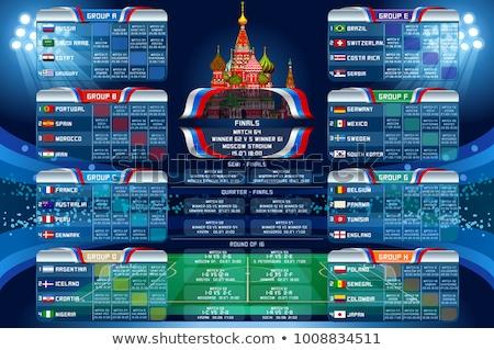 balón · de · fútbol · bandera · Rusia · fútbol · campeonato · 3D - foto stock © romvo