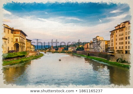 Ponte alle Grazie medieval bridge on Arno river Stock photo © Artspace