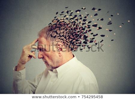 maladie · patient · bulle · de · pensée · médecin · cerveau - photo stock © bluering