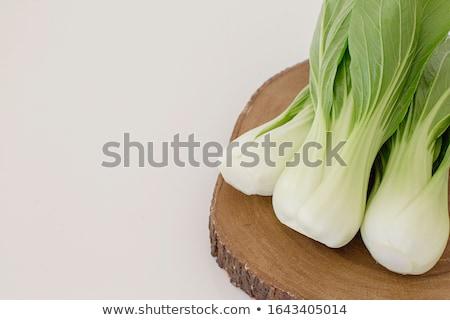 friss · kínai · káposzta · öreg · fából · készült · zöldségek - stock fotó © melnyk