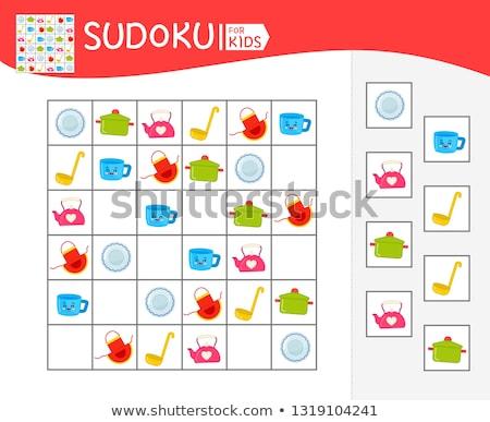 Spel keuken kinderen volwassenen foto's kinderen Stockfoto © Olena