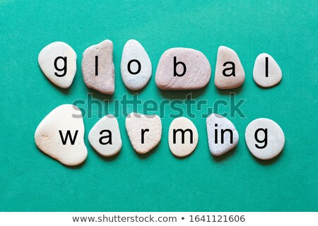 Global Warming Lettering Stock photo © lenm