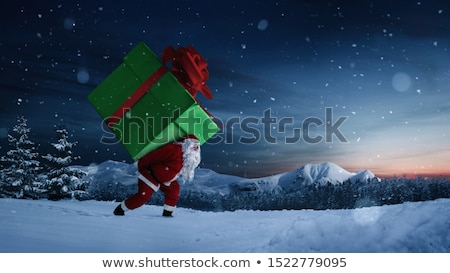 Magia caixa de presente grande surpresa natal ilustração Foto stock © orson