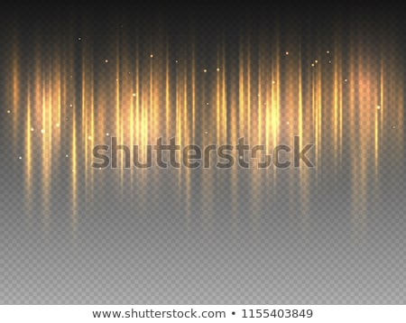 Vertical golden yellow radiance glow pulsing rays on transparent background. Vector abstract Stock photo © Iaroslava