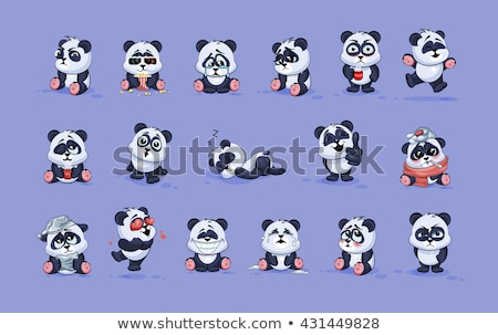 sad cartoon red panda stock photo © cthoman