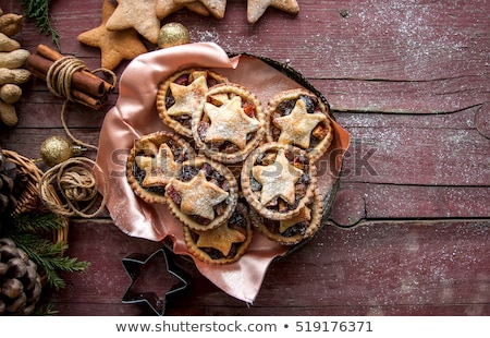 Christmas Gingerbread and Mince Pies Stock photo © marilyna