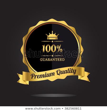 Foto stock: 100 · garantir · prêmio · dourado · prêmio · qualidade