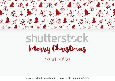 minimalistic merry christmas greeting card with retro lettering stock photo © ussr