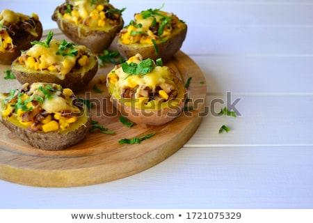 ジャガイモ · 食事 · マクロ - ストックフォト © grafvision