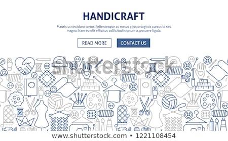 Handicraft Line Concept Stock photo © Anna_leni